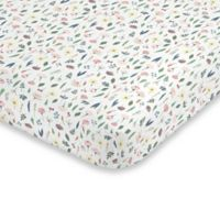 ED Ellen DeGeneres Painterly Floral Fitted Crib Sheet