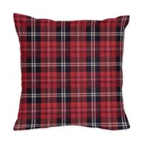 Sweet Jojo Designs® Rustic Patch Collection Square Throw Pillow in Red/Black/White