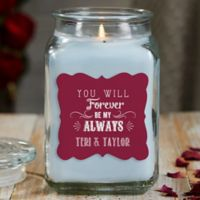 Love Quotes Personalized Crystal Waters 18oz. Candle Jar