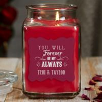 Love Quotes Personalized Cinnamon Spice 18oz. Candle Jar