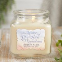 Personalized In Memory Vanilla Bean Candle Jar- Small