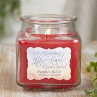 In Memory Personalized Cinnamon Spice Candle Jar- Small