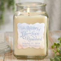 In Memory 18 oz. Vanilla Bean Candle Jar in White