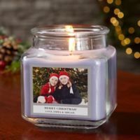 Picture Perfect Holiday Personalized Lilac Minuet Candle Jar- Small
