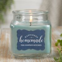 Happiness Is Homemade Personalized Eucalyptus Spa Candle Jar- Small