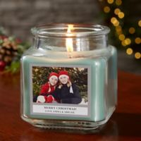 Picture Perfect Holiday Personalized Eucalyptus Spa Candle Jar- Small