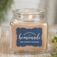 Happiness Is Homemade Personalized Walnut Coffee Cake Candle Jar- Small