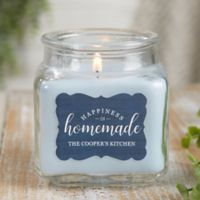 Happiness Is Homemade Personalized Crystal Waters Candle Jar- Small