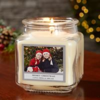 Picture Perfect Holiday Personalized Vanilla Bean Candle Jar- Small