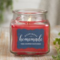 Happiness Is Homemade Personalized Cinnamon Spice Candle Jar- Small