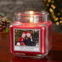 Picture Perfect Holiday Personalized Cinnamon Spice Candle Jar- Small