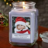 Picture Perfect Holiday Personalized Lilac Minuet Candle Jar- Large
