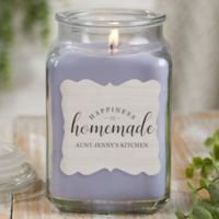 Happiness Is Homemade Personalized Eucalyptus Spa Candle Jar- Large