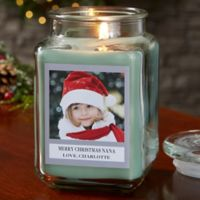 Picture Perfect Holiday Personalized Eucalyptus Spa Candle Jar- Large