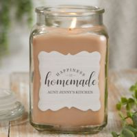 Happiness Is Homemade Personalized Walnut Coffee Cake Candle Jar- Large