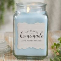 Happiness Is Homemade Personalized Crystal Waters Candle Jar- Large