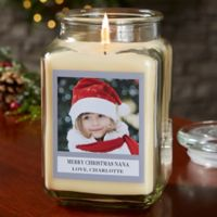 Picture Perfect Holiday Personalized Vanilla Bean Candle Jar- Large