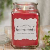 Happiness Is Homemade Personalized Cinnamon Spice Candle Jar- Large