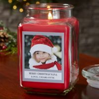 Picture Perfect Holiday Personalized Cinnamon Spice Candle Jar- Large