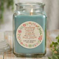 My Grandma, My Friend Personalized Eucalyptus Spa Candle Jar- Large