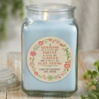 My Grandma, My Friend Personalized Crystal Waters Candle Jar- Large