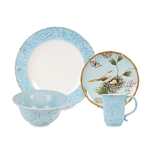 Fitz And Floyd 174 Toulouse Dinnerware Collection In Blue