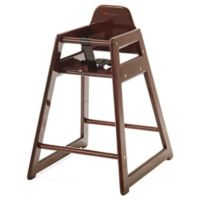 Foundations® NeatSeat™ Foodservice Hardwood High Chair in Antique Cherry