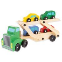 Wooden 2-Level Loader Truck and 4 Car Set