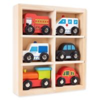 Wooden 6-Piece Mini Toy Car Set