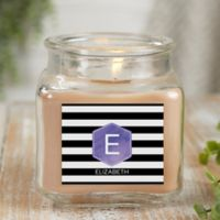 Modern Stripe Personalized Walnut Coffee Cake Candle Jar- Small