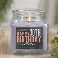 Vintage Birthday Personalized Lilac Minuet Candle Jar- Small