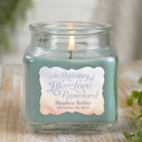 In Memory Personalized Eucalyptus Spa Candle Jar- Small
