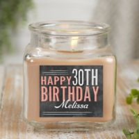 Vintage Birthday Personalized Walnut Coffee Cake Candle Jar- Small