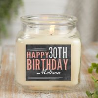 Vintage Birthday Personalized Vanilla Bean Candle Jar- Small