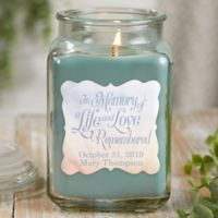 In Memory Personalized Eucalyptus Spa Candle Jar- Large