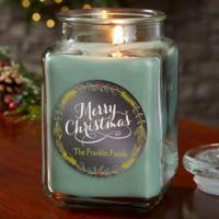 Happy Holidays Personalized Eucalyptus Spa Candle Jar- Large