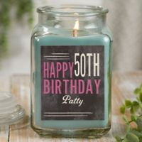 Vintage Birthday Personalized Eucalyptus Spa Candle Jar- Large