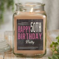Vintage Birthday Personalized Walnut Coffee Cake Candle Jar- Large
