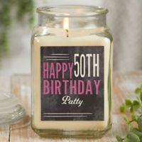Vintage Birthday Personalized Vanilla Bean Candle Jar- Large