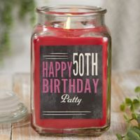 Vintage Birthday Personalized Cinnamon Spice Candle Jar- Large