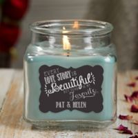 Love Quotes Personalized Eucalyptus Spa Candle Jar- Small