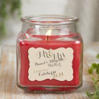 Mr. & Mrs. Personalized Cinnamon Spice Candle Jar- Small
