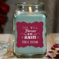 Love Quotes Personalized Eucalyptus Spa Candle Jar- Large