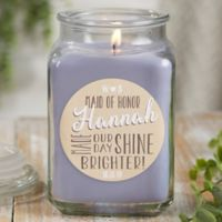 My Bridesmaid Personalized Lilac Minuet Candle Jar- Large