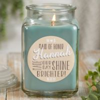 My Bridesmaid Personalized Eucalyptus Spa Candle Jar- Large