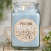 My Bridesmaid Personalized Crystal Waters Candle Jar- Large