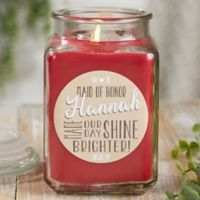 My Bridesmaid Personalized Cinnamon Spice Candle Jar- Large