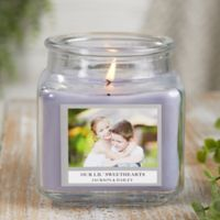 Picture Perfect Personalized Lilac Minuet Candle Jar- Small