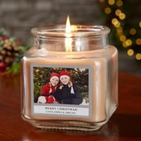 Picture Perfect Holiday Personalized Walnut Coffee Cake Candle Jar- Small
