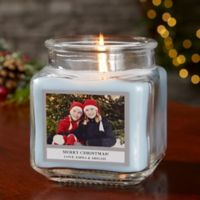 Picture Perfect Holiday Personalized Crystal Waters Candle Jar- Small